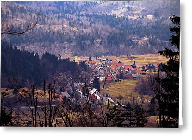 Village Of Lokve In Gorski Kotar  Greeting Card