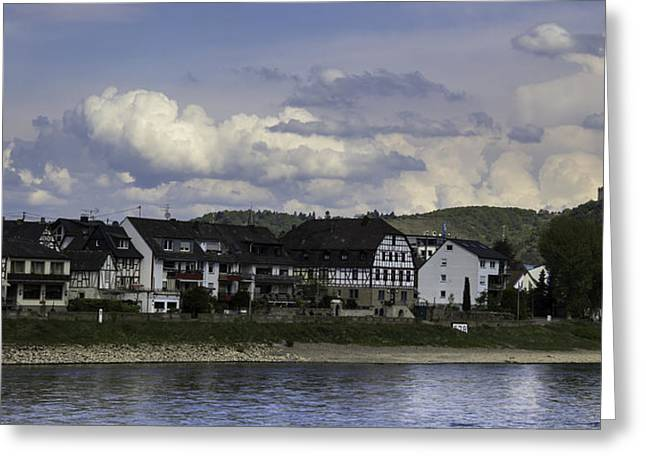 Village Of Spay And Marksburg Castle Greeting Card by Teresa Mucha