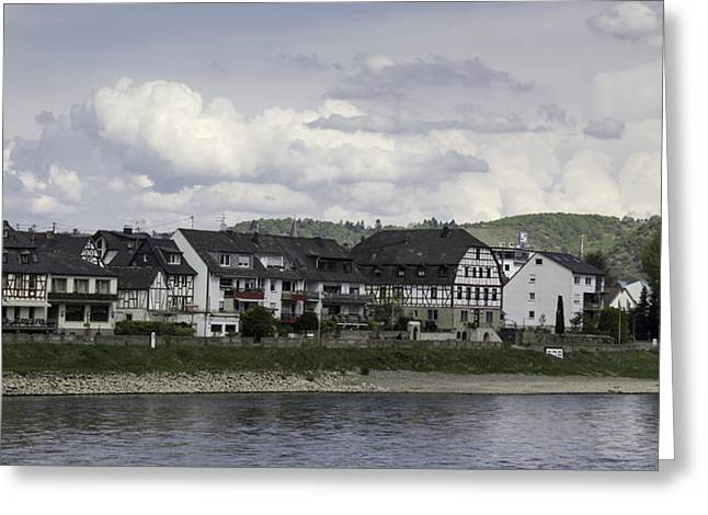Village Of Spay Germany And Marksburg Castle Greeting Card by Teresa Mucha