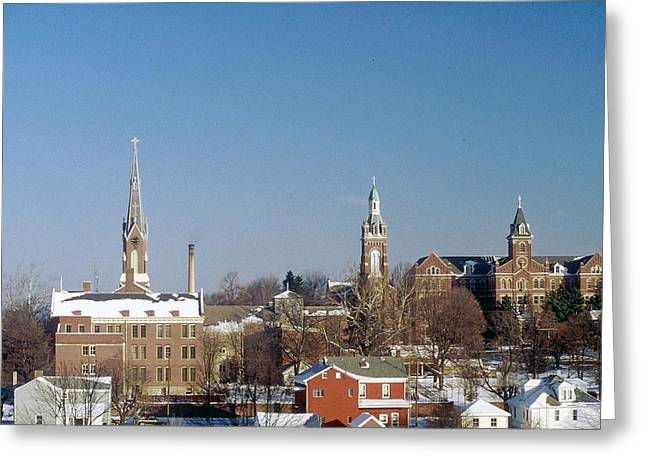 Greeting Card featuring the photograph Village Of Spires by Gary Wonning