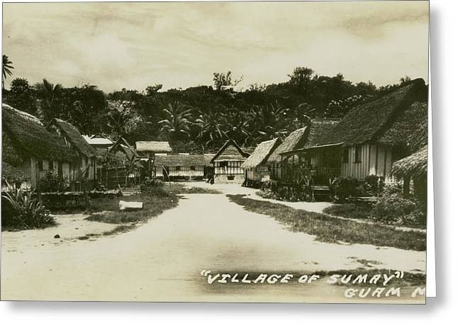 Greeting Card featuring the photograph Village Of Sumay Guam by eGuam Photo
