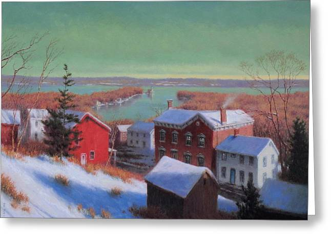 Village On The Hudson Greeting Card