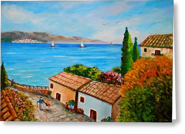 Village Perigiali / Greece Greeting Card