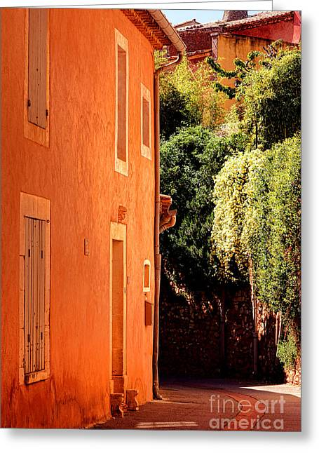 Village Street In Provence Greeting Card