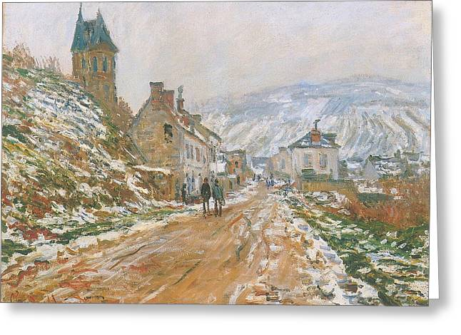 Village Street, Vetheuil Greeting Card by Claude Monet