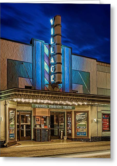Village Theater Greeting Card