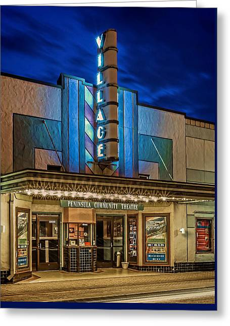 Village Theater Greeting Card by Jerry Gammon