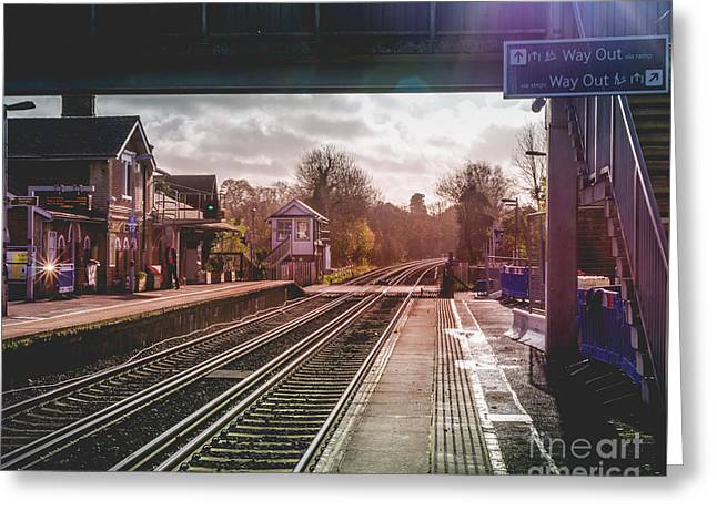 The Village Train Station Greeting Card