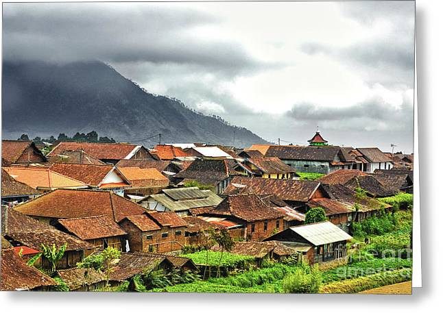 Greeting Card featuring the photograph Village View by Charuhas Images
