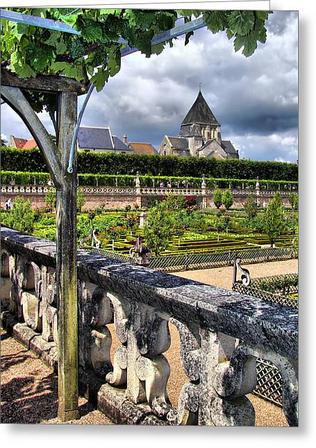 Villandry From The Chateau Greeting Card