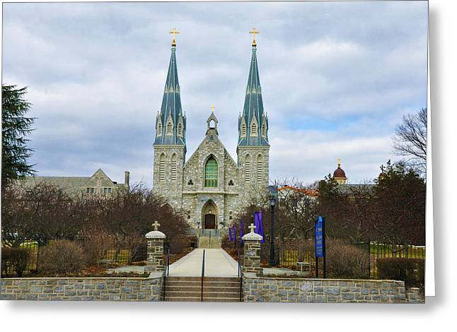 Villanova College Greeting Card by Bill Cannon