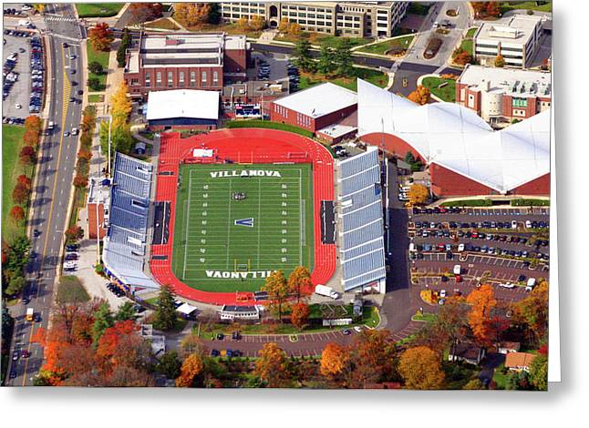 Villanova Stadium 800 East Lancaster Avenue Jake Nevin Fieldhouse Villanova Pa 19085  Greeting Card by Duncan Pearson