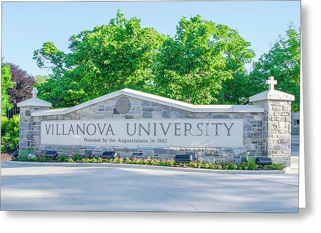 Villanova University - Radnor Pa Greeting Card by Bill Cannon