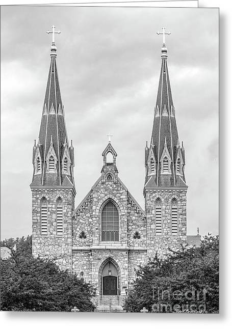 Villanova University St. Thomas Of Villanova Church Greeting Card by University Icons