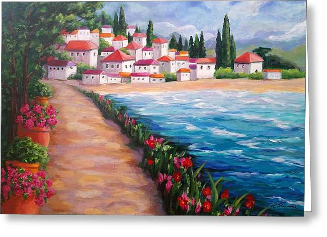 Villas By The Sea Greeting Card