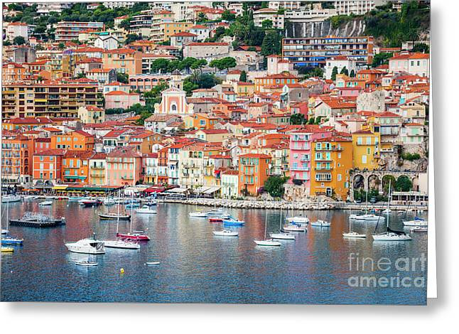 Villefranche-sur-mer On French Riviera Greeting Card
