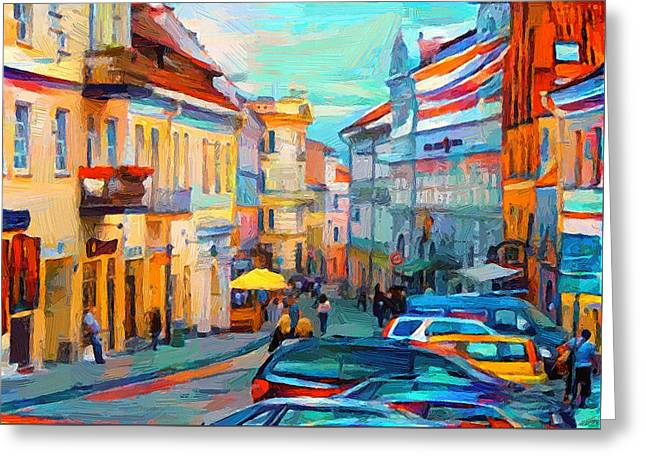 Vilnius At Paint Greeting Card