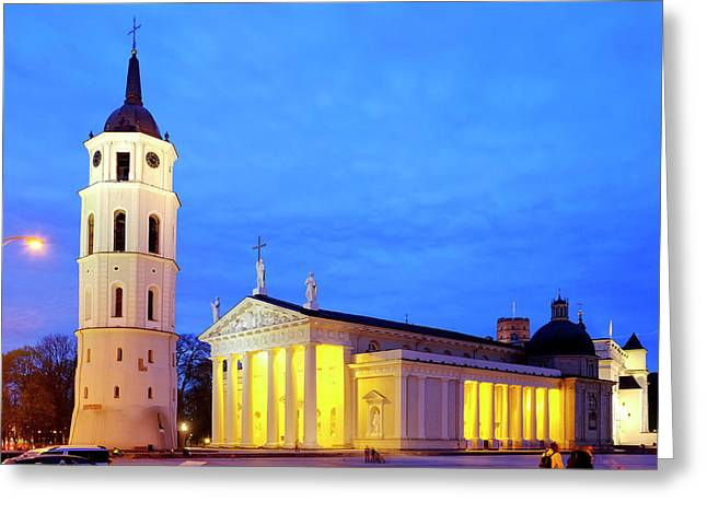 Greeting Card featuring the photograph Vilnius Cathedral by Fabrizio Troiani