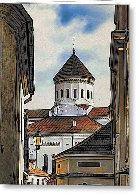 Vilnius Old City Greeting Card