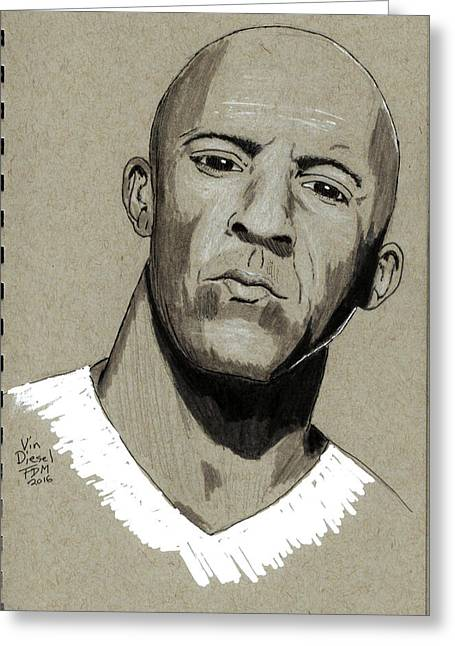Vin Diesel Greeting Card