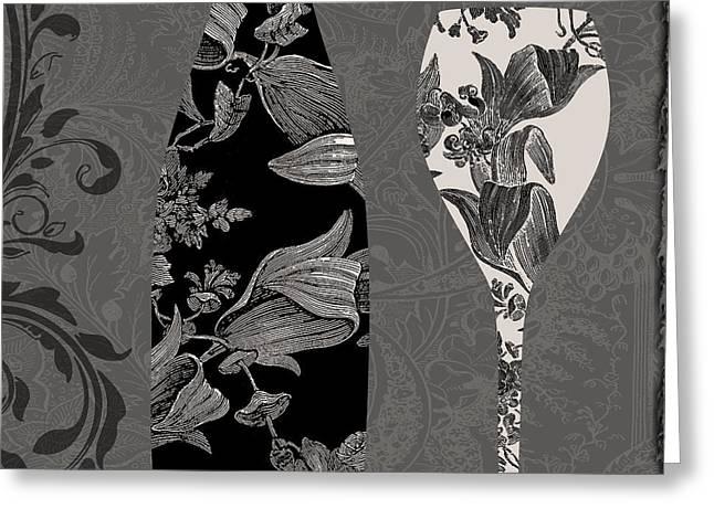 Vin Elegant II Greeting Card by Mindy Sommers