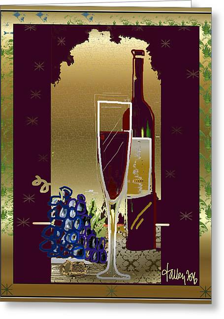 Vin Pour Une Greeting Card