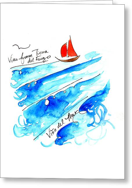 Vina Del Mar Greeting Card by Anna Elkins