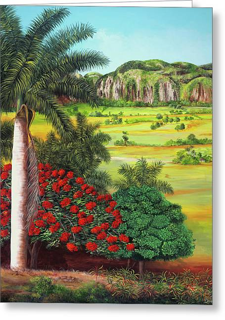 Vinales, A Cuban Landscape Greeting Card