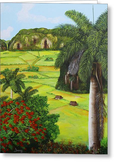 Dominica Alcantara Greeting Cards - Vinales Valley Greeting Card by Dominica Alcantara