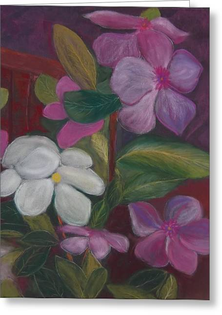 Vinca Major Greeting Card