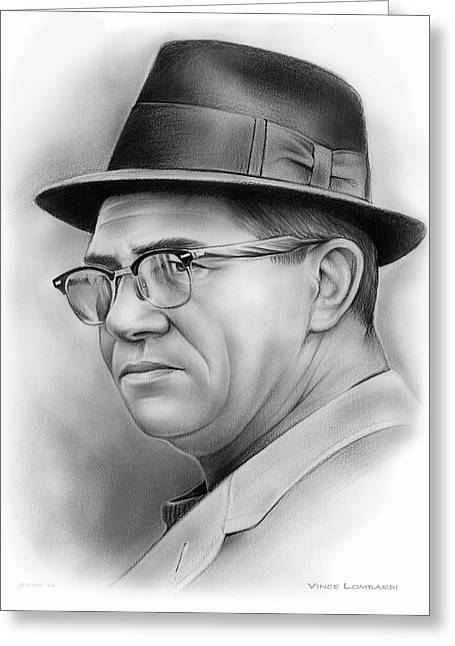 Vince Lombardi Greeting Card