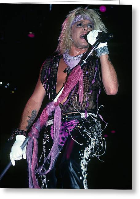 Vince Neil Of Motley Crue Greeting Card