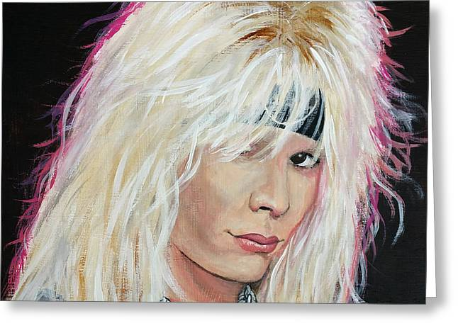 Vince Neil Greeting Card by Tom Carlton