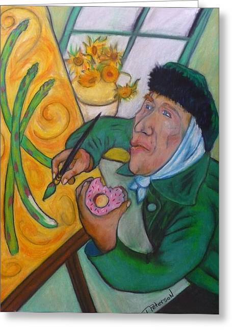 Vincent And The Asparagus Greeting Card