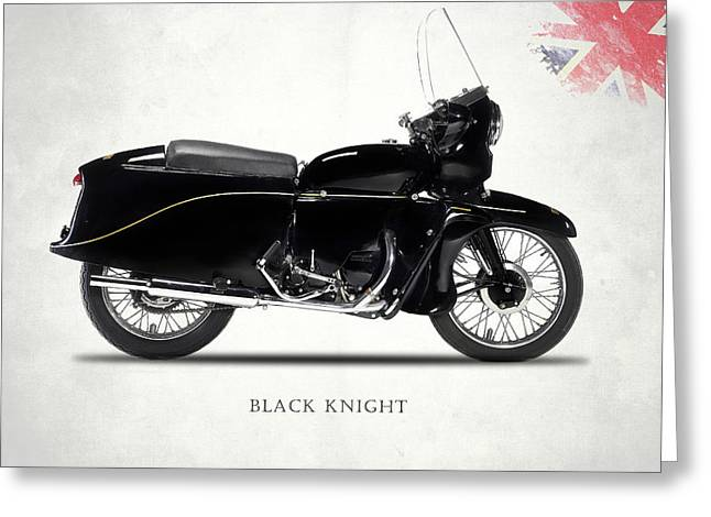 Vincent Black Knight Greeting Card