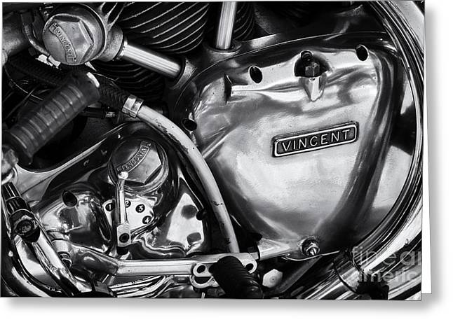 Vincent Engine Detail Greeting Card by Tim Gainey
