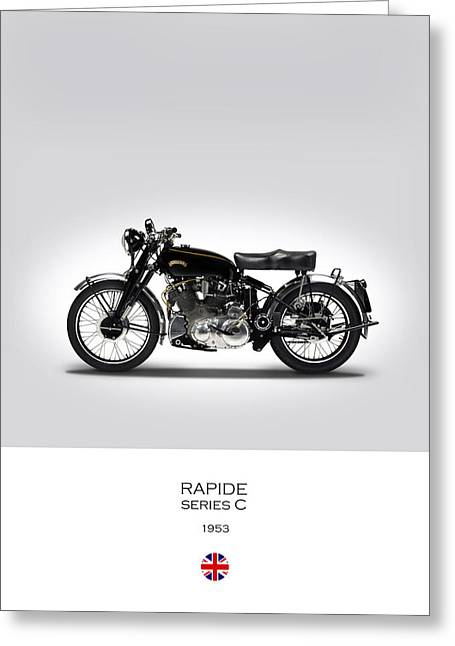 Vincent Rapide 1953 Greeting Card by Mark Rogan