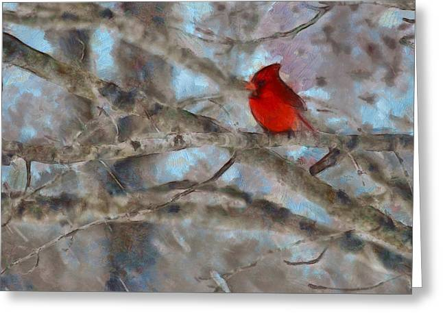 Greeting Card featuring the mixed media Vincent by Trish Tritz