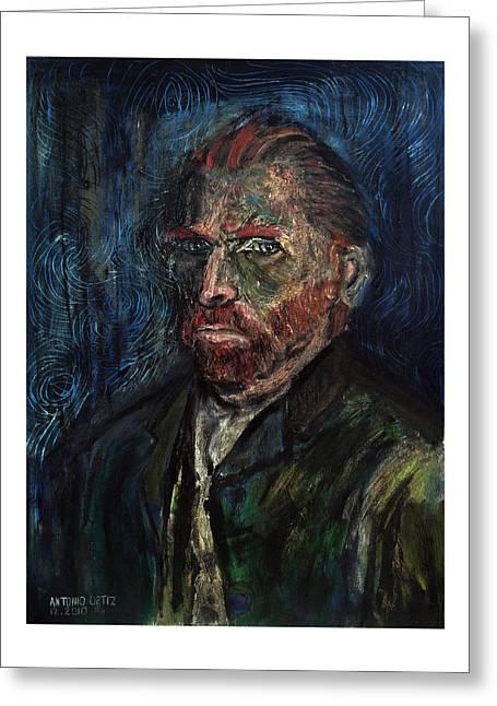 Vincent Van Gogh    Greeting Card by Antonio Ortiz