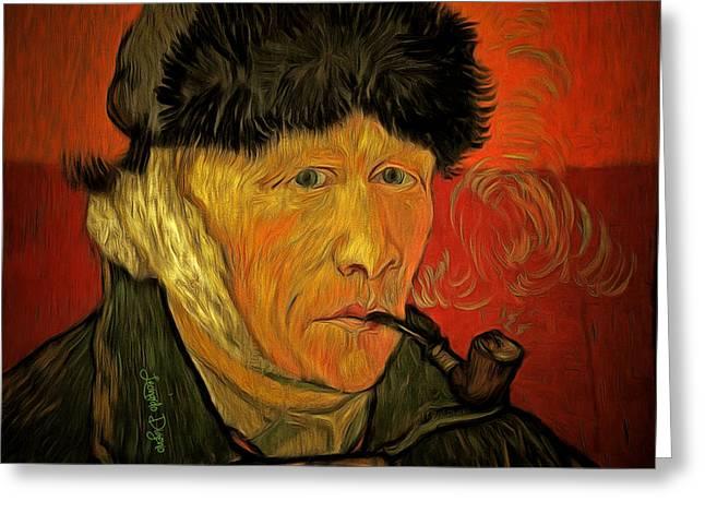 Vincent Van Gogh By Van Gogh Revisited Greeting Card
