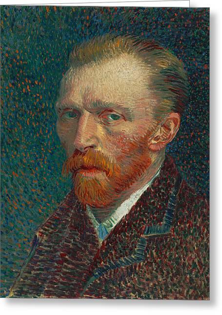 Vincent Van Gogh Self Portrait - 1887 Greeting Card
