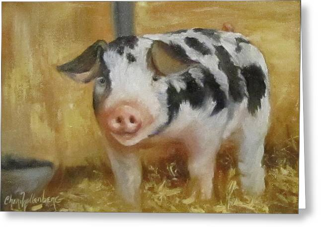 Vindicator The Spotted Pig Greeting Card by Cheri Wollenberg