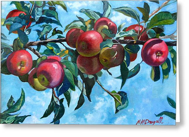 Vine Apples Greeting Card by Michael McDougall