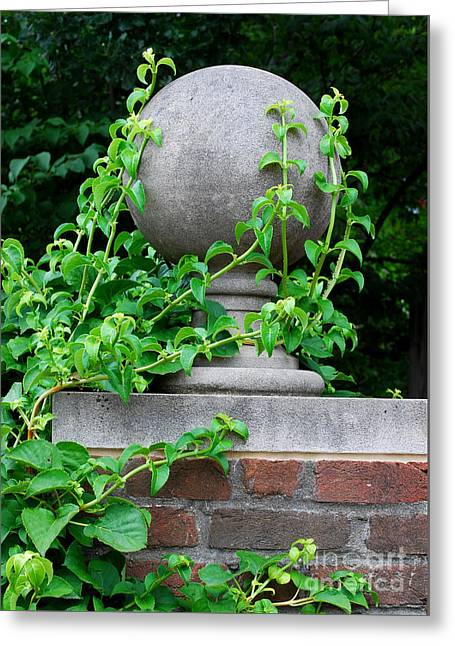 Concrete Sculpture Greeting Cards - Vines and Sphere 2 Greeting Card by Nancy Mueller