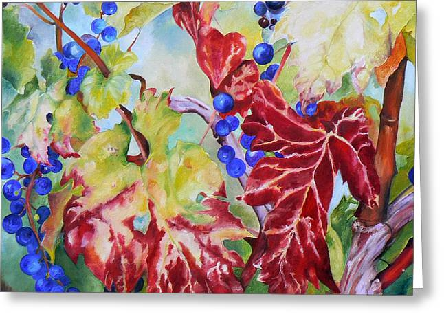 Vines In The Fall Greeting Card
