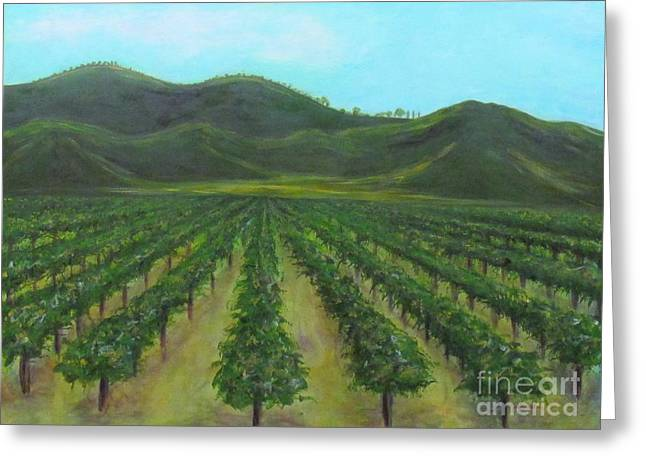 Vineyard Drive By Greeting Card