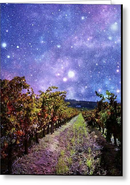 Vineyard In Autumn Colors Greeting Card by Werner Lehmann