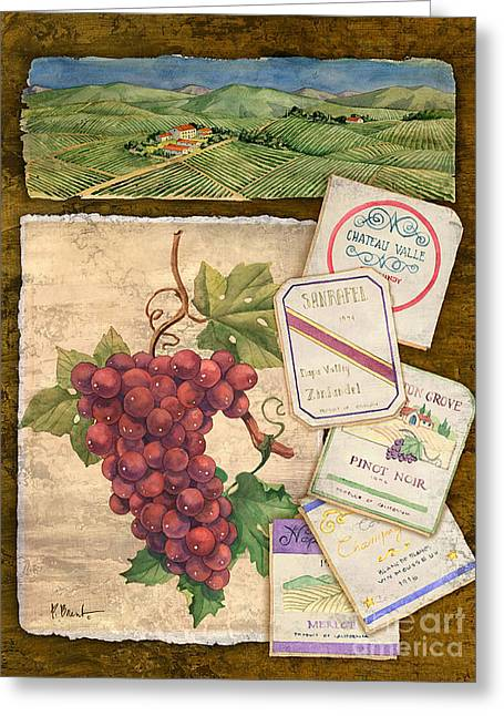 Vineyard View I Greeting Card by Paul Brent
