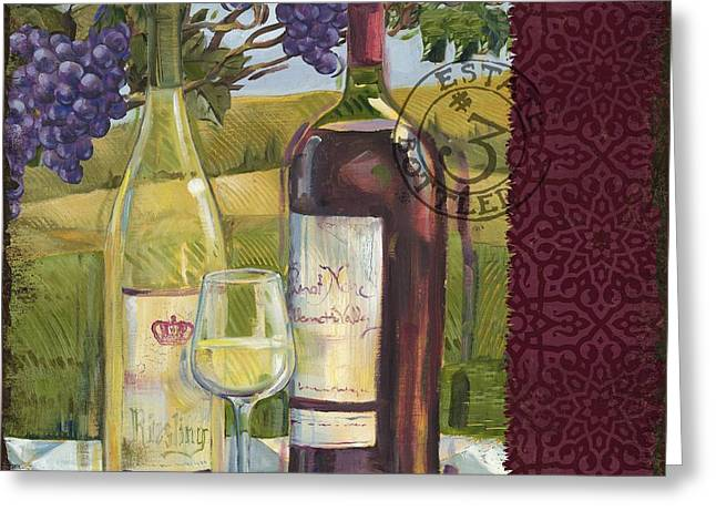Vineyard Wine Tasting Collage II Greeting Card