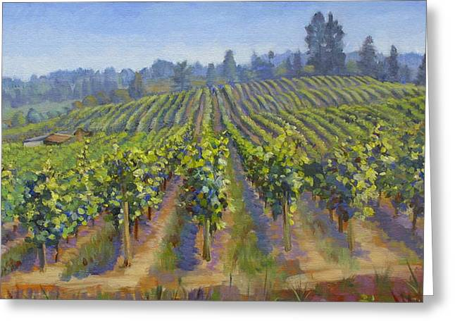 Vineyards In California Greeting Card by Dominique Amendola